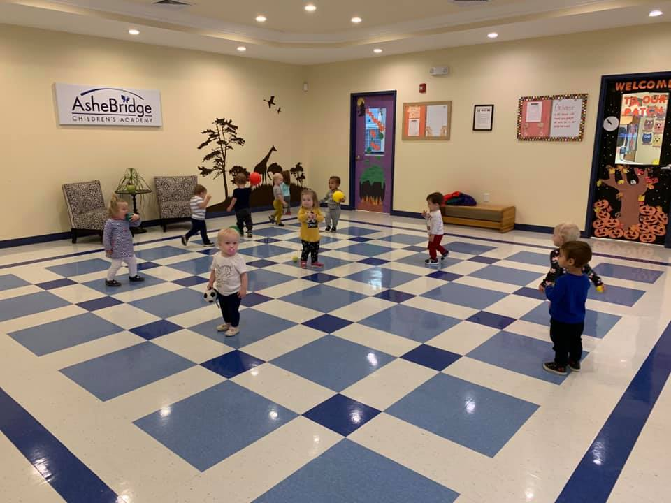 Large Rooms for Playand Daily Exercise at a Preschool & Daycare/Childcare Center serving Apex & Fuquay-Varina, NC