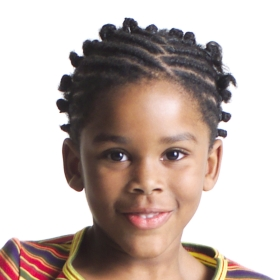 Happy african american kid boy with cool hairstyle at a Preschool & Daycare/Childcare Center serving Apex & Fuquay-Varina, NC